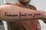 тату надпись на французком