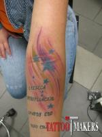 Татуировка звезд в цвете