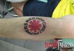 тату логотип RED HOT CHILI PEPPERS