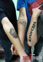 временные татуировки друзей